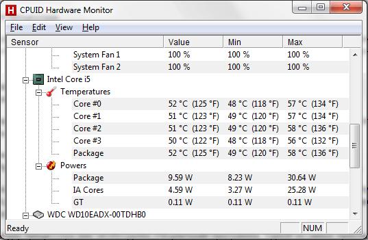 Как узнать температуру процессора 3