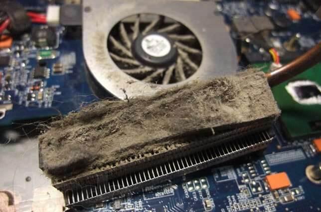 ремонт системы охлаждения ноутбука 3